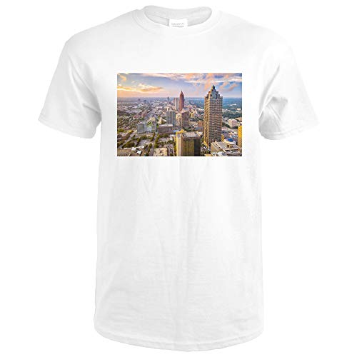 Atlanta, Georgia - Skyline - Photography A-92580 92580 (Premium White T-Shirt XX-Large) (Atlanta Sign Highway)