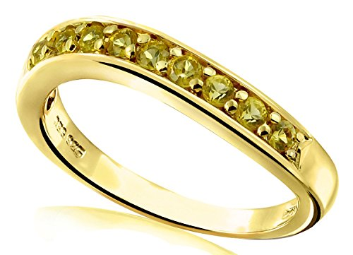 047-Carat-Natural-Yellow-Sapphire-Gold-Plated-Sterling-Silver-Band-Ring