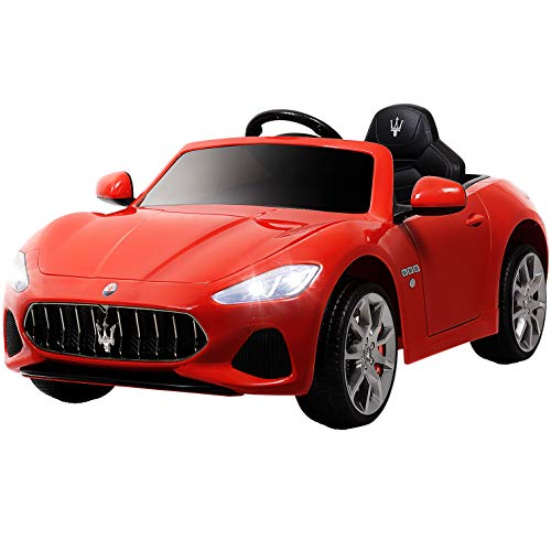 Uenjoy Maserati GranCabrio 12V Electric Kids Ride On Cars Motorized Vehicles with RC Remote Control, Wheels Suspension, MP3 Player, Lights, Red (Best Remote Control Vehicle For 5 Year Old)