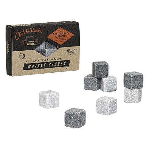 Gentlemen's Hardware AGEN145 Granite & Soap Whisky Stones, Silver by Gentlemen's Hardware