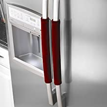 "Ougar8 Refrigerator Door Handle Covers,Keep Your Kitchen Appliance Clean From Smudges, Fingertips, Drips, &Food Stains, Perfect For Ovens, Dishwashers (15.74""*4"", Dark Red)"