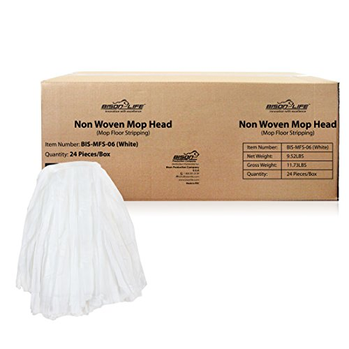- KLEEN HANDLER Disposable Industrial Mop Head Replacement, Non-Woven Cut End Floor Cleaning Wet Mop Head Refill (Case of 24)
