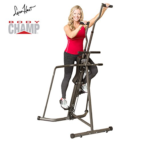 Black Friday Fitness Cyber Monday PROMO! Body Champ BCR890 Cardio Leisa Hart Vertical Stepper Climber / Includes Assembly Video, Meal Plan Guide, Workout Video access by Body Champ