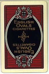 English Ovals Cigarettes Playing Cards - Blue Oval Pinochle Deck