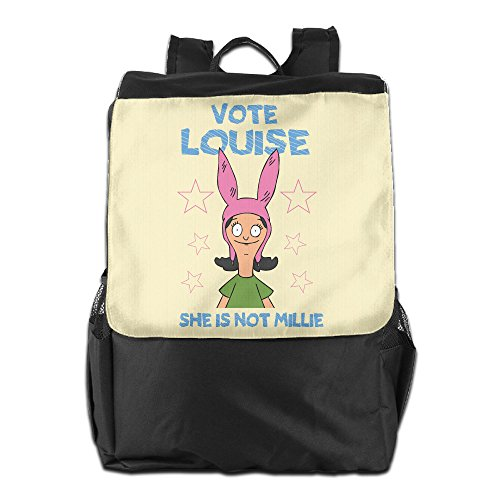 [CYANY Bob's Animated Sitcom Burgers Vote Louise Shoulder Bags Travel Black Backpack For Men & Women Teens] (Bobs Burgers Couples Costume)