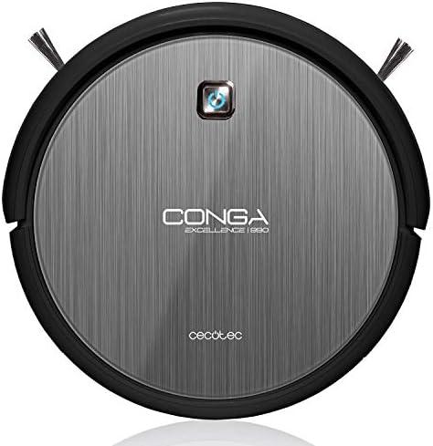 Cecotec Conga Excellence 990, Robot Aspirador 4 en 1. iTech 3.0. Programable 24h. 5 Modos de Limpieza, autonomía de 90 minutos: Amazon.es: Hogar
