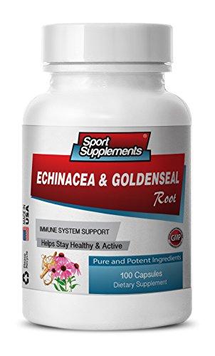 - antioxidant complex - Echinacea & Goldenseal Root 300MG - goldenseal capsules bulk - 1 Bottle (100 Capsules)