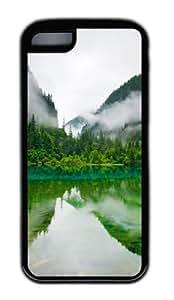 Customized Case Jiuzhaigou Sichuan China TPU Black for Apple iPhone 5C