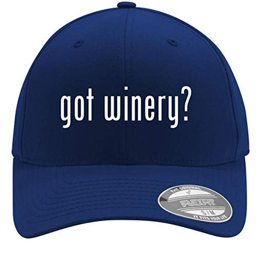 got Winery? - Adult Men's Flexfit Baseball Hat Cap, Blue, Large/X-Large ()