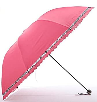 paraguas UV Umbrella Sombrilla Sombrilla plegable Tres Sombrilla sombrilla (Color : A4)