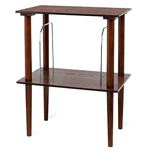 Victrola Wooden Stand for Wooden Music Centers with Record Holder Shelf, Espresso
