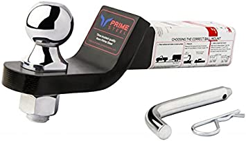 Prime Steel 18118 Black-Chrome 2 Drop 1-7//8 Ball Mount with Pin and Clip - 3.5K - Black-Chrome