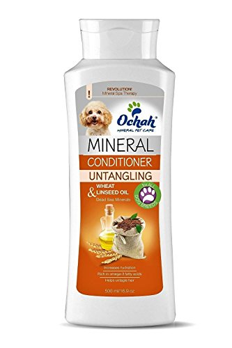 Ochah Mineral Salt Conditioner with Wheat & Linseed Oil-Naturally Conditions & Detangles Hair, while Reducing Shedding and Easing Irritated Sensitive Skin. Natural, Reliable, and Effective- 16.9oz by Ochah
