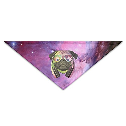 DJ Rainbow Pug With America Flad Weed Sunglass Baby Pet Triangle Head Scarfs Dog Scarves Puppy Triangle 18.5