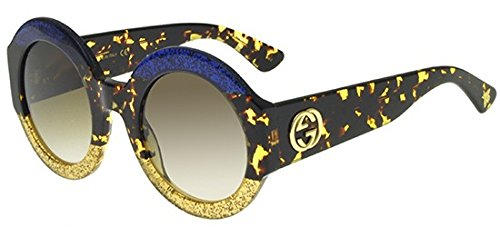 Sunglasses Gucci GG 0084 S- 002 002 BLUE / BROWN / AVANA