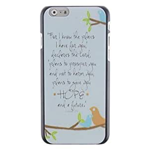DDLLetter Pattern PC Hard Cover for iPhone 6