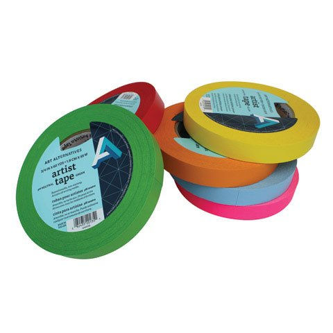 Art Alternatives - Artist Tape - Assorted Colors - Yellow- 3/4'' by Art Alternatives