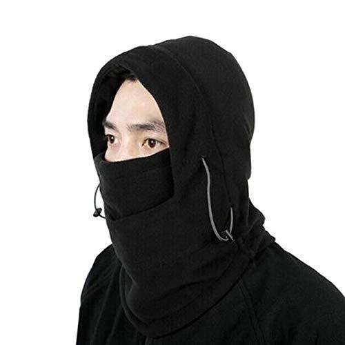 Adjustable Black Warm Fleece Winter Masks Ski Face CS Mask Hat Protected Ear Beanies Ski Skull Snowboard Cap (Snowboard Cap Skull Ski Beanie)