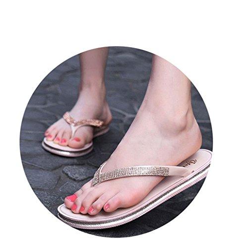 Ladies Slippers W6LDiJLddl White Summer Shoes Slippers Fashion Beach Shoes Rhinestone SSx8qwAEn