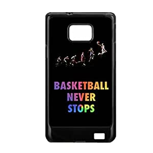 Generic Child Rigid Plastic Design Basketball Never Stops For Samsung S2 Case Perfect