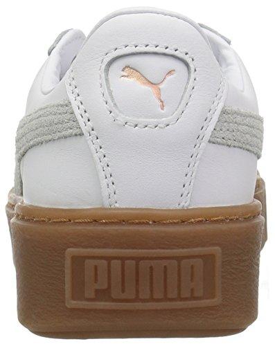 Euforia Delle Gomma Piattaforma rosa Puma Cestino Bianco Oro Puma Donne Sneaker CwxZ5w