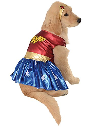 DC Comics Pet Costume, Medium, Wonder Woman from Rubie's
