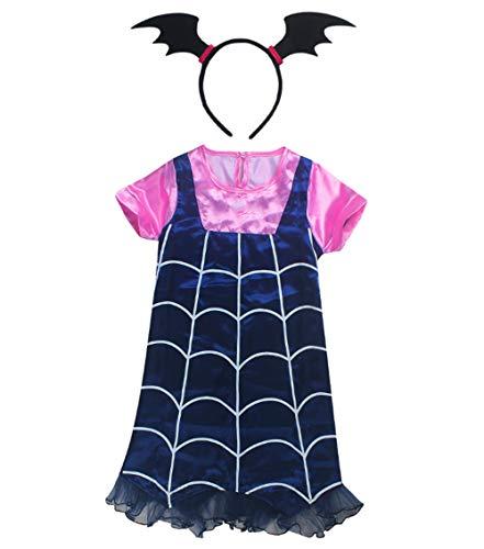(Marosoniy Toddler Girl Halloween Pullover Dress for Vampire Theme Party Dress Up Cosplay Dresses)
