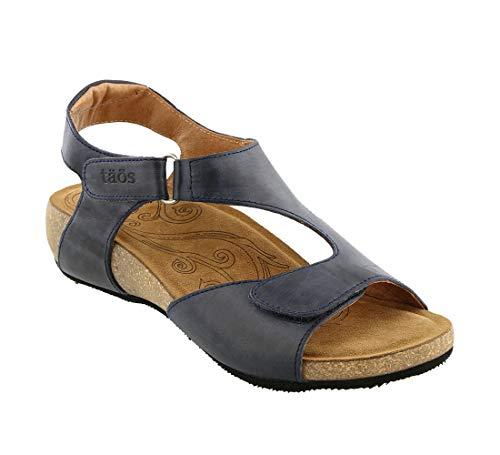 Taos Footwear Women's Rita Navy Sandal 6-6.5 M US ()