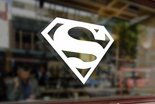 25cm Superman S Symbol Emblem Vinyl Stickers Funny Decals Bumper Car Auto Computer Laptop Wall Window Glass Skateboard -