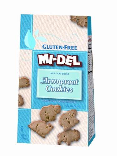 MIDEL, Cookies, Arrowroot Animal, Pack of 8, Size 8 OZ, (Gluten Free Kosher Wheat Free) ()