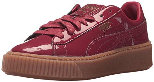 PUMA Women's Basket Platform Patent Wn, Tibetan Red-Tibetan Red, 6 M US Review