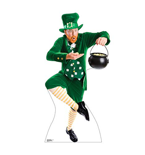 Advanced Graphics Leprechaun Pot of Gold Life Size Cardboard Cutout Standup