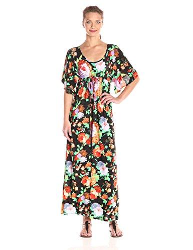 Star Vixen Women's Flutter Sleeve Empire Maxi Dress, Flor...