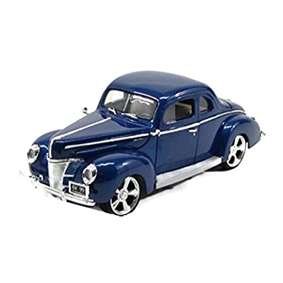 1940 Ford Coupe Deluxe Blue with Custom Wheels 1/18 by Motormax 79003: Toys & Games