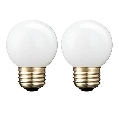 Philips 433573 60 Watt Equivalent Halogen G16.5 White Globe Standard Base Dimmable Light Bulb, Soft White, 2 ()