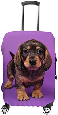 スーツケースカバー ビーグル 子犬 伸縮素材 キャリーバッグ お荷物カバ 保護 傷や汚れから守る ジッパー 水洗える 旅行 出張 S/M/L/XLサイズ