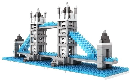 LOZ Building & Construction 9371 Tower Bridge Building Blocks (570 Piece) (Bridge Construction Set)