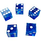 Yuanhe Set of 5 Grade AAA Precision 19mm Serialized Casino dice with Razor Edges and Corners