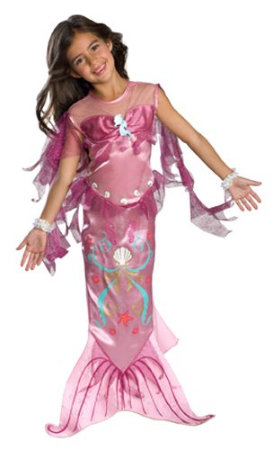 Let's Pretend Pink Mermaid Costume,Medium 8-10