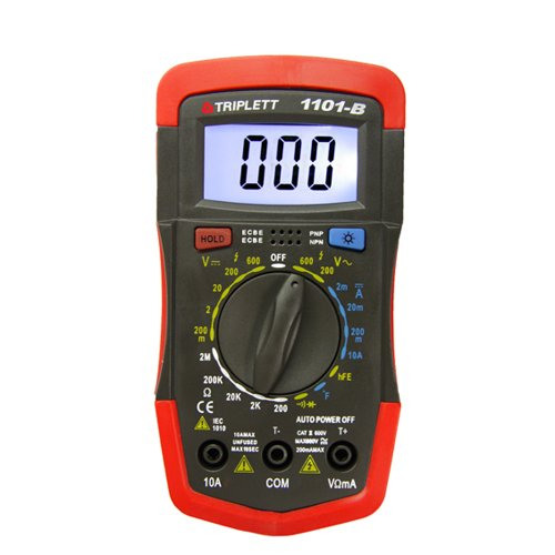 Triplett CAT II 1,999 Count Digital Multimeter with Backlit LCD Display - Great for Security Home Theaters, Electrical, HVAC Installations & More | Compact Impact Resistant| Auto Power Off - (1101-B)