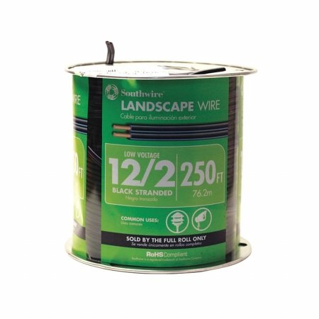 Southwire 55213402 500' 12/2 Black Landscape Wire by Southwire