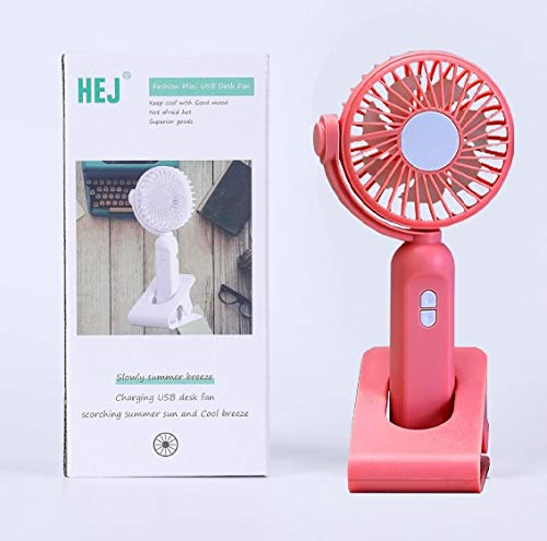 PRAYRAA Rechargeable High-Speed Portable Small Home Table USB Fan, desk table Handheld fan for home and Kitchen (Random Colour)