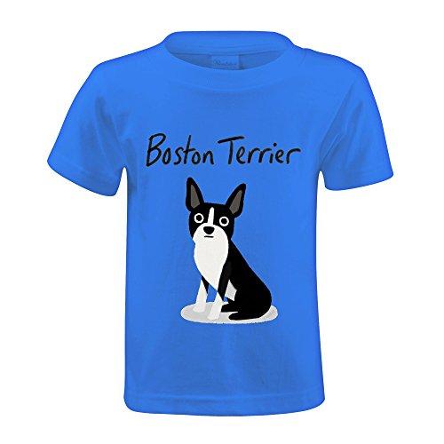 FORERIC Boston Terrier T Shirts Little Child Blue