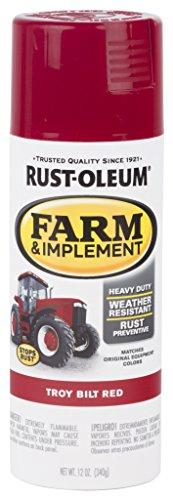 (Rust-Oleum RUSTOLEUM 303473 Troy Bilt Red 12 oz. Farm & Implement Spray Paint)