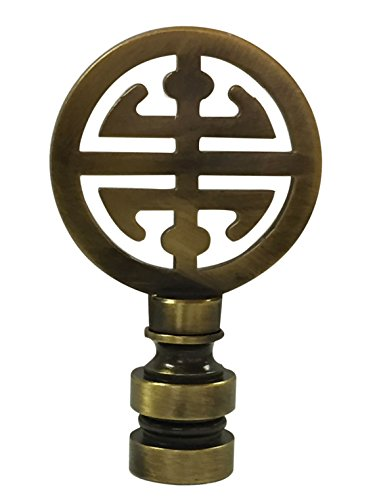 Royal Designs Oriental Happiness Symbol Lamp Finial for Lamp Shade-Antique Brass by Royal Designs, Inc