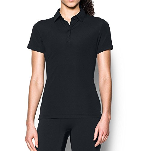 Under Armour Women's Performance Range Tactical Polo, Black (001)/Black, Medium ()