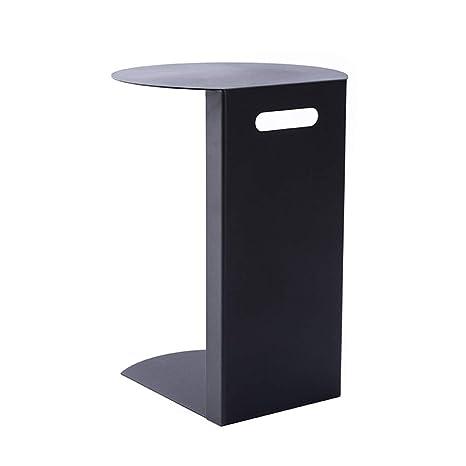 Amazon.com: Mesa auxiliar de hierro estilo nórdico Zhirong ...