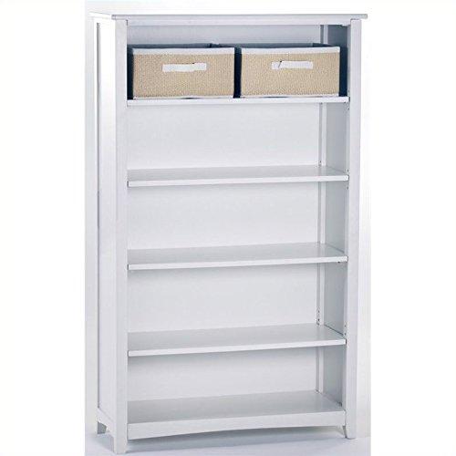 NE Kids School House Tall Vertical Bookcase in White