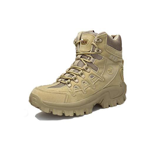 HANMAX Men's Outdoor High-Top Waterproof Trekking Hiking Boots