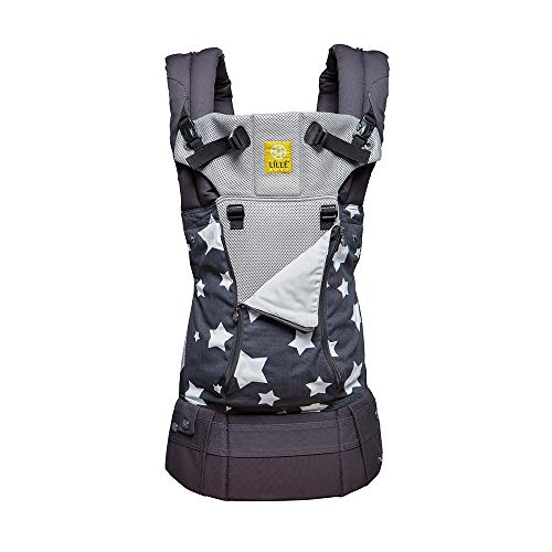 LÍLLÉbaby The Complete All Seasons SIX-Position 360° Ergonomic Baby & Child Carrier, Charcoal Star – Cotton